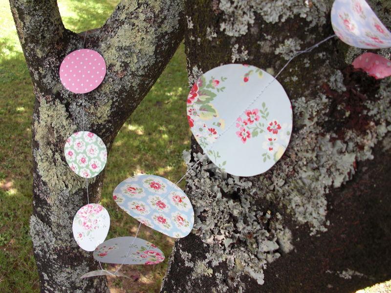 Guirlande fleurit en papier