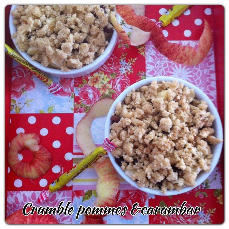 Crumble pommes et carambars