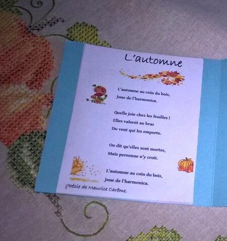carte automne 2