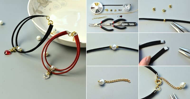 1200-PandaHall-Tutorial-on-Making-Simple-Couple-Bracelets-with-Suede-Cord-and-Heart-Beads
