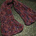 Une écharpe sympa, vite faite, au tricotin géant pour commencer l'année