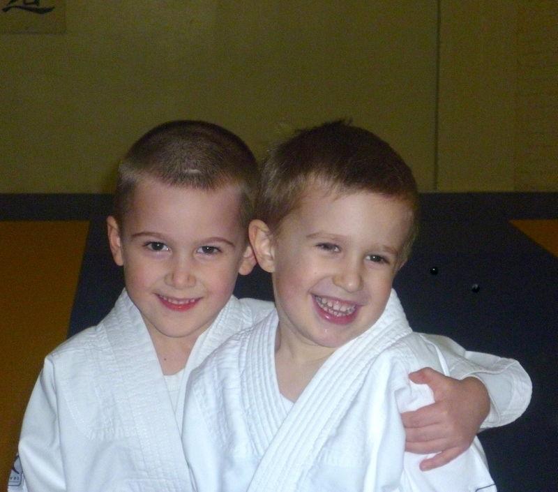 Au judo avec son copain Skender