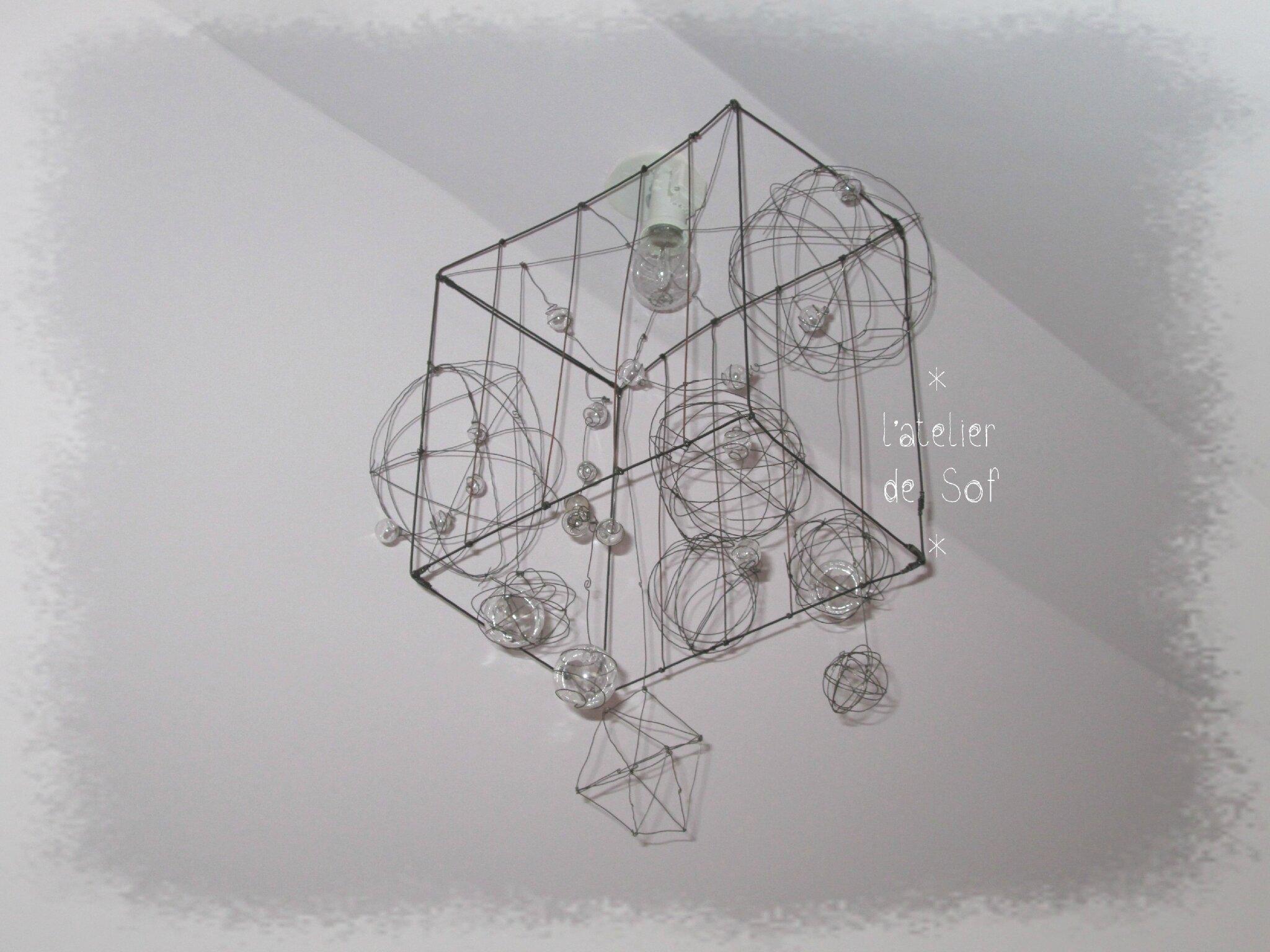 luminaire hors cadre photo de luminaires objets et guirlandes fil de fer l 39 atelier de sof. Black Bedroom Furniture Sets. Home Design Ideas