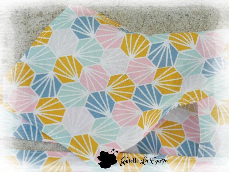 Chapeau foulard origami rose orange2