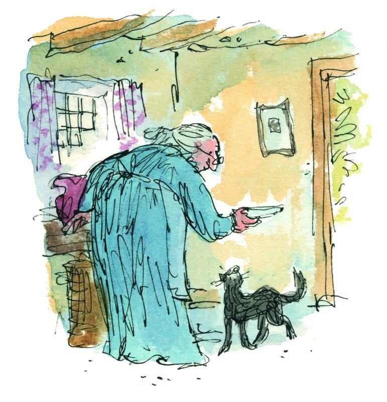 Quentin Kitty in Boots illustration - copyright Quentin Blake[2]
