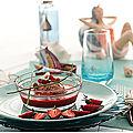 Coulis de piquillos/ fraises, quenelles de sardines pour une recette