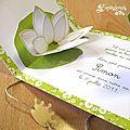 Pop up lotus - faire-part naissance baptême