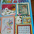 Magazines broderie point de croix