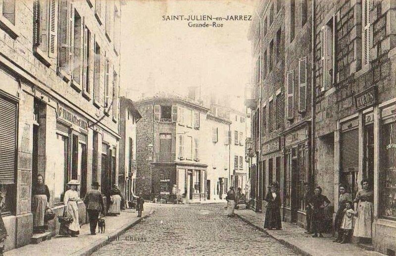 St-Julien Grande Rue écrite en 1911