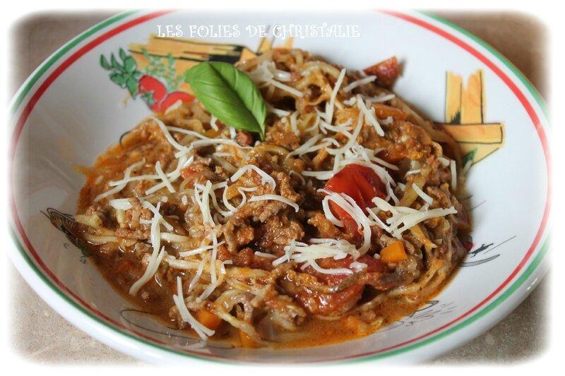 Spaghettis de courgettes bolognaise 2