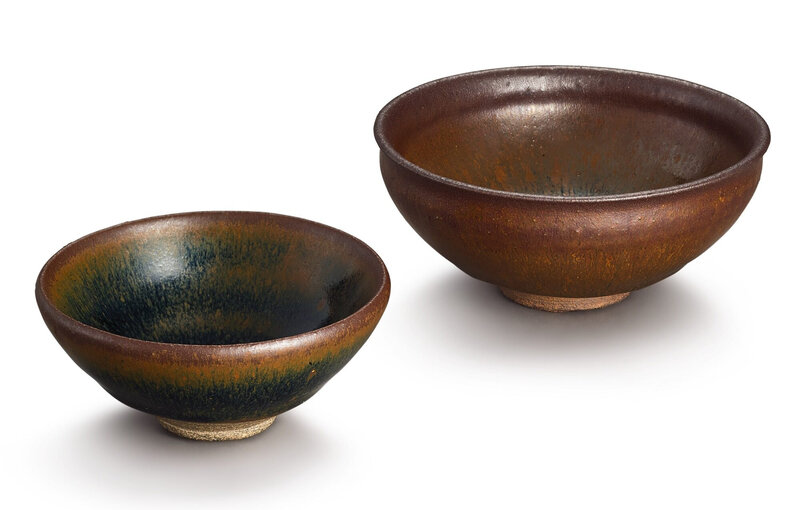 Two Jian 'hare's fur' bowls, Southern Song dynasty (1127–1279)