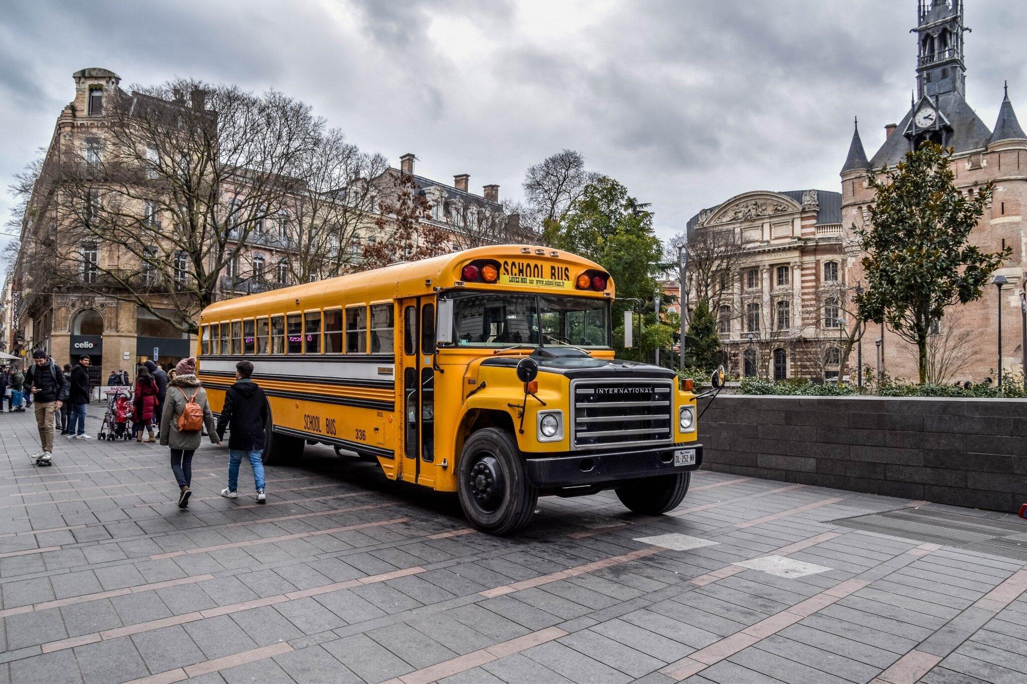 School Bus International Harvester Blog Photo De Breizhell