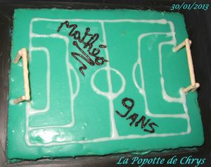 Gateau mouss choc terrain foot