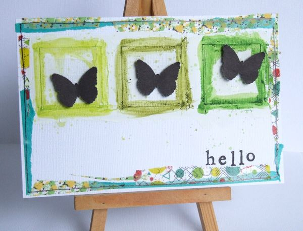 hello papillons vert