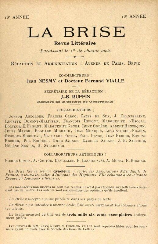 La Brise revue littéraire