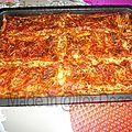 Lasagnes maison sortant du four