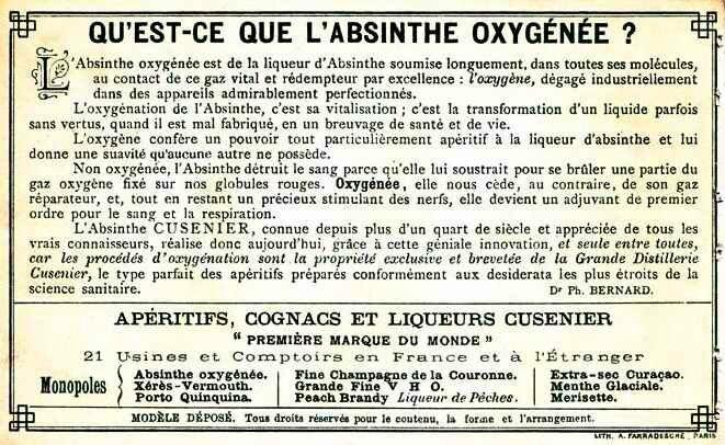 Absinthe oxygénée
