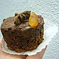 Entremet chocolat orange aux épices