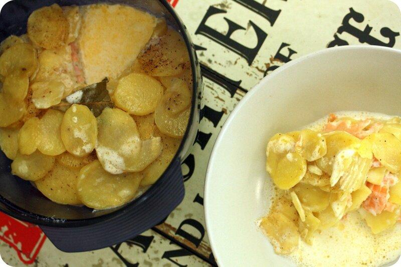 gratin nordique saumon pommes de terre blog chez requia cuisine et confidences