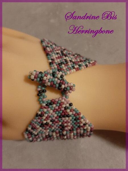 Bracelet Herringbone multicolore 4
