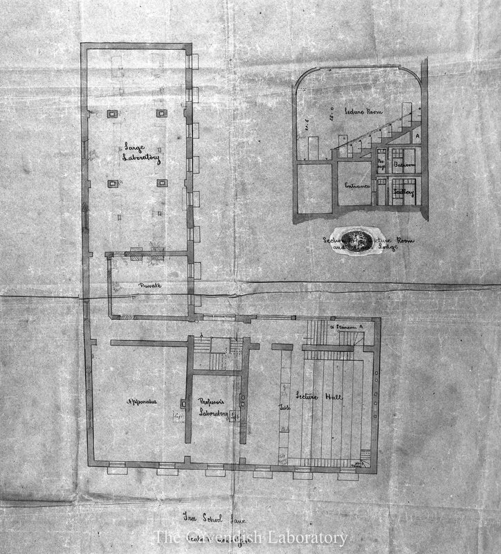 Plan of the old Cavendish Laboratory - 1