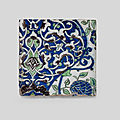 A damascus underglaze-painted pottery tile, syria, late 16th century