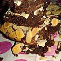 Moelleux chocolat aux amandes effilées