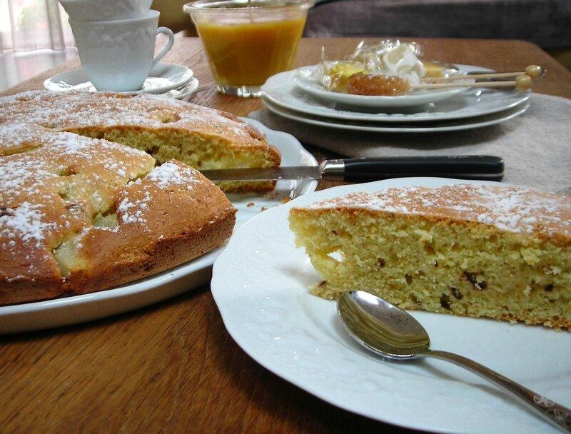 gâteau aux poires et pépites de chocolat (7)