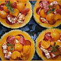 Melon crevettes et tomates