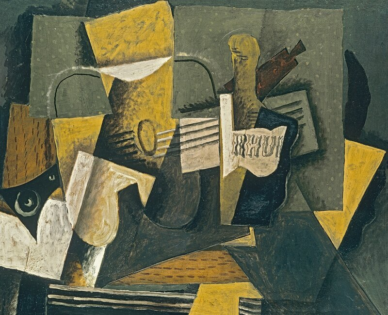 Georges Braque (French, 1882-1963), Rum and Guitar, 1918