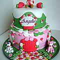 Gâteau charlotte aux fraises-strawberry shortcake cake