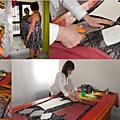 Confection robe avec patronnage