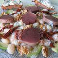 Salade de cocos aux gésiers confits