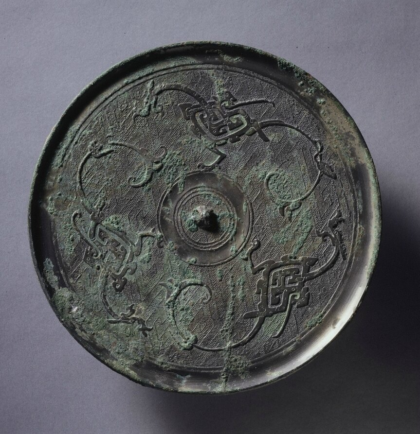 Mirror with Three Dragons, 3rd century BC, China, Eastern Zhou dynasty (771-256 BC), Warring States period (475-221 BC)