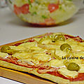 Pizza tomate, jambon, fromage