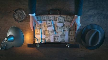 valise magique en dollars