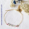 Bracelet Alphabet BFF - 9 €