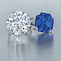 An impressive diamond ring and a fine sapphire and diamond ring, by bvlgari