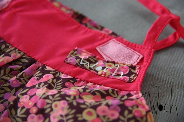 Robe à bretelles rose et Liberty Woch 4