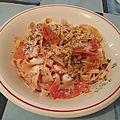 Tagliatelle au ragout de viandes à la tomate