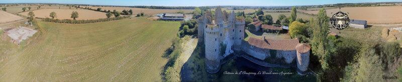 Panoramique Château fort de l'Ebaupinay Incendié au cours de la guerre de Vendée
