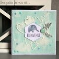 Carte de naissance - bébé éléphant