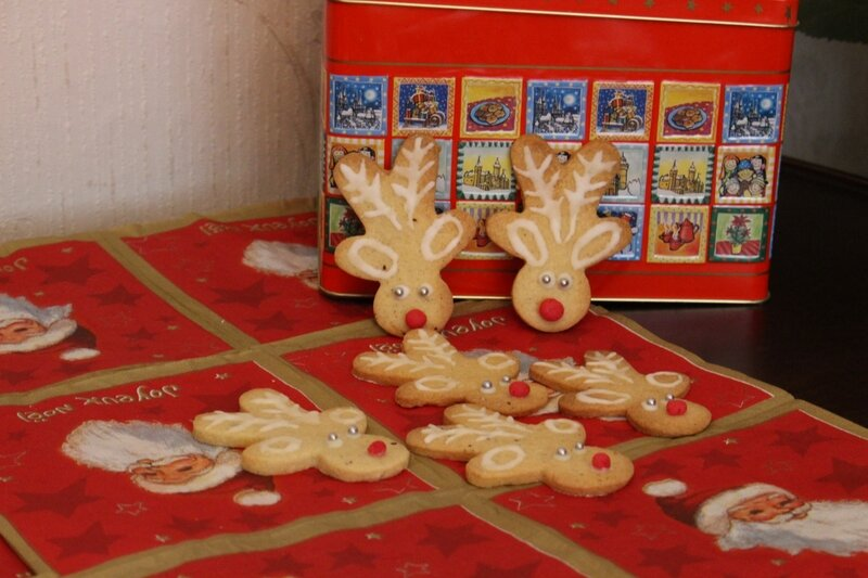 sablés forme rennes Noël