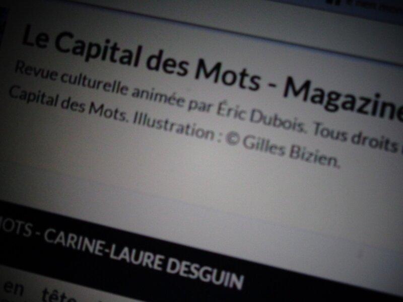 C.-L. Desguin dans le Capital des Mots, un des blogs d'Eric Dubois