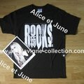 Signature, t-shirt et bracelet R.O.C.K.S-The Avril Lavigne Foundation (automne 2013)