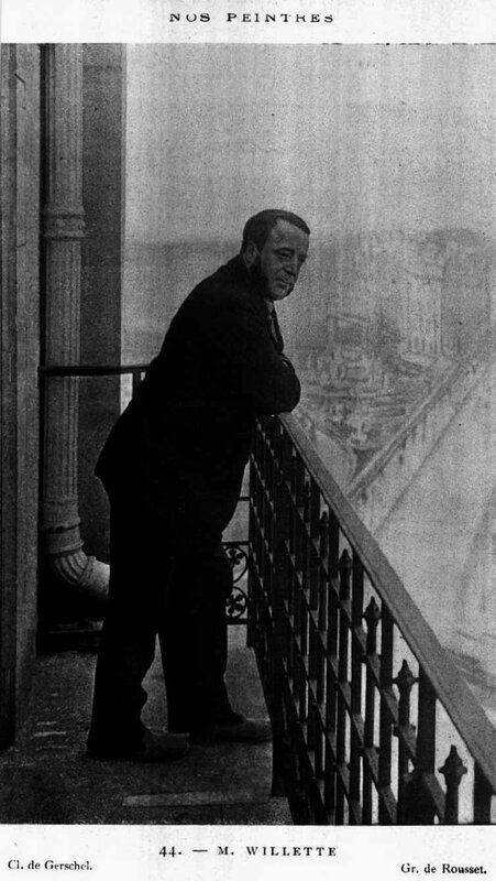 Willette portrait balcon