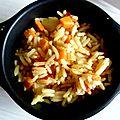 Le riz gras aux légumes