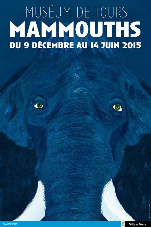 AFFICHE EXPOSITION MAMMOUTHS TOURS