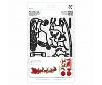 xcut-a5-die-set-9pcs-reindeer-and-sleigh-xcu-50393