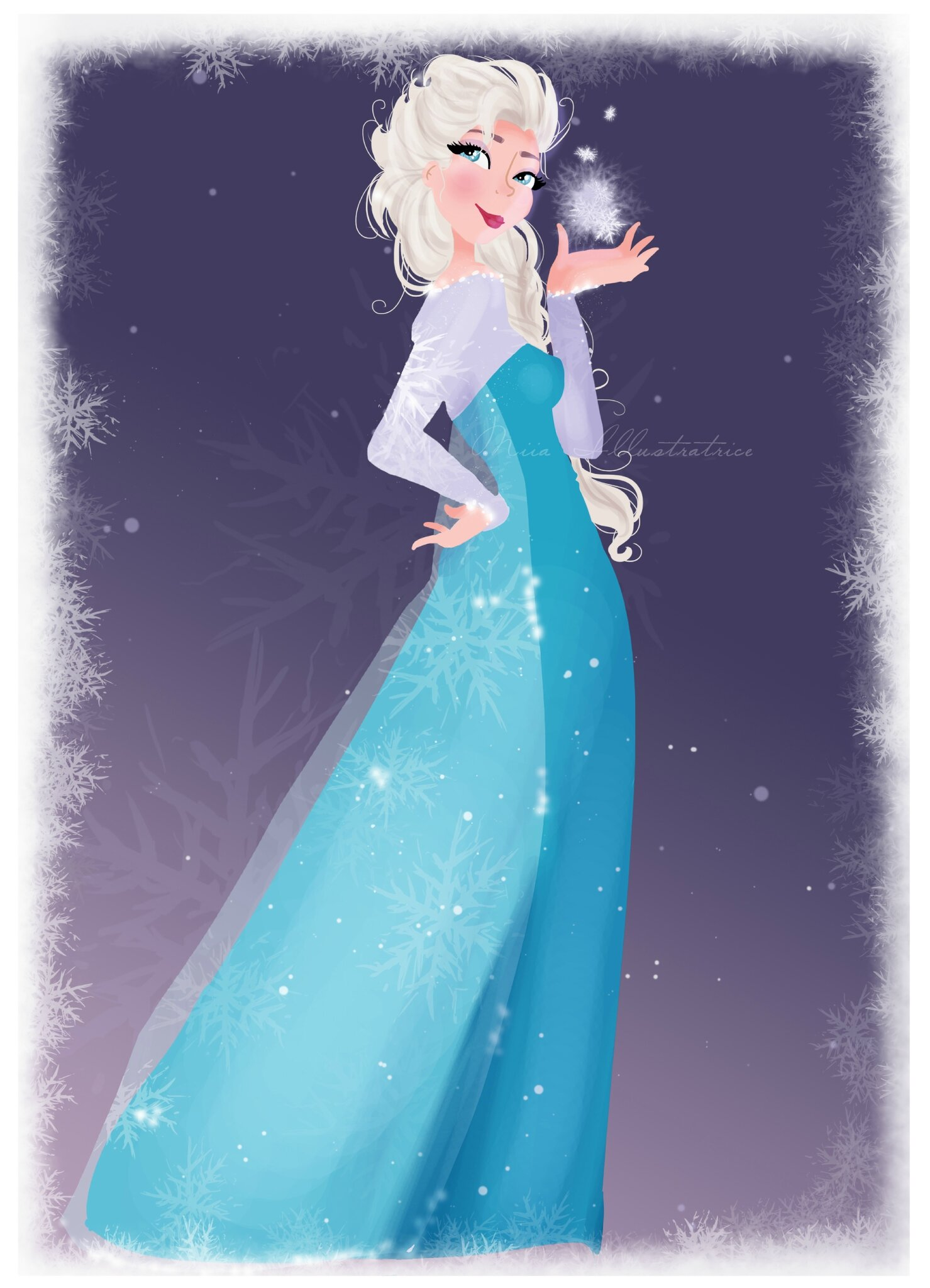 La reine des neiges elsa blog de miia illustratrice - Photo de la reine des neige ...